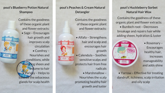 pout care, pout hair & body care, natural hair product for children