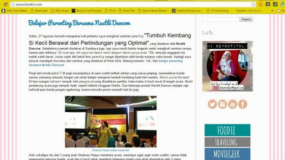 kisekii.com, dwi sari, blogger perempuan, arisan link