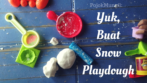 snow playdough, play dough, diy, children activities, essential oil, young living