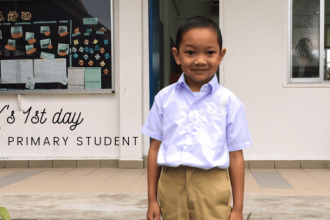 K's first day at primary