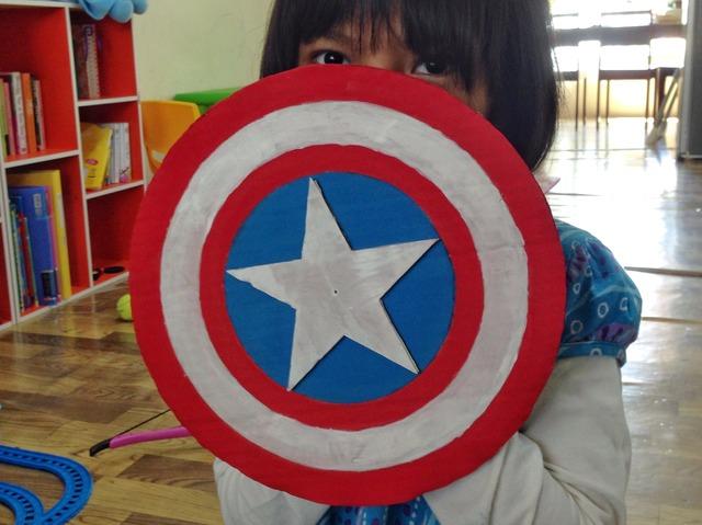 perisai captain america dari kardus bekas