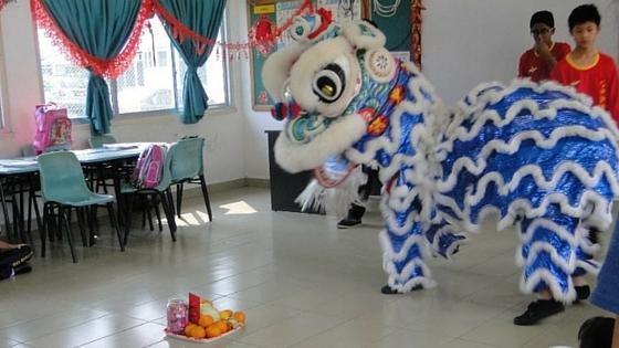 lion dance, chap goh mei 2016, chinese new year 2016, brunei, seria