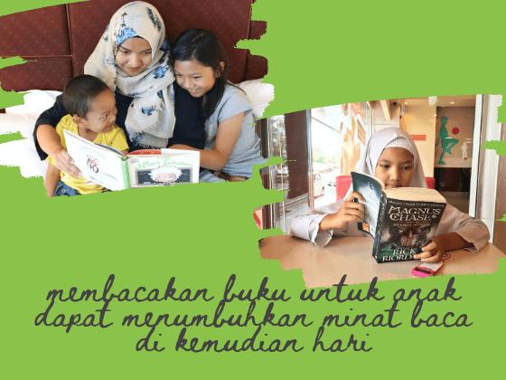 membaca buku untuk anak