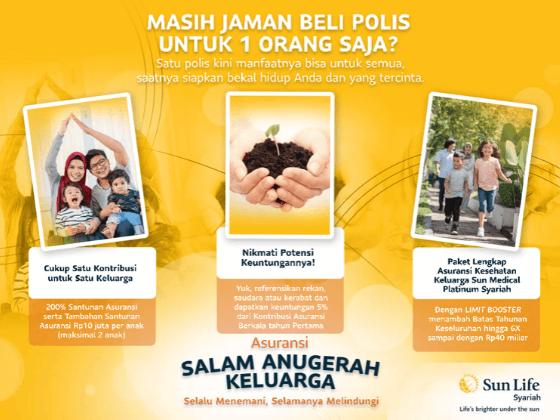 sun life indonesia, asuransi syariah, asuransi salam anugerah keluarga