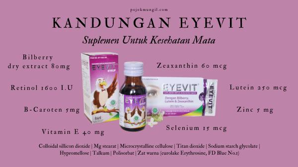 vitamin mata, eyevit tablet, kegunaan eyevit, efek samping eyevit