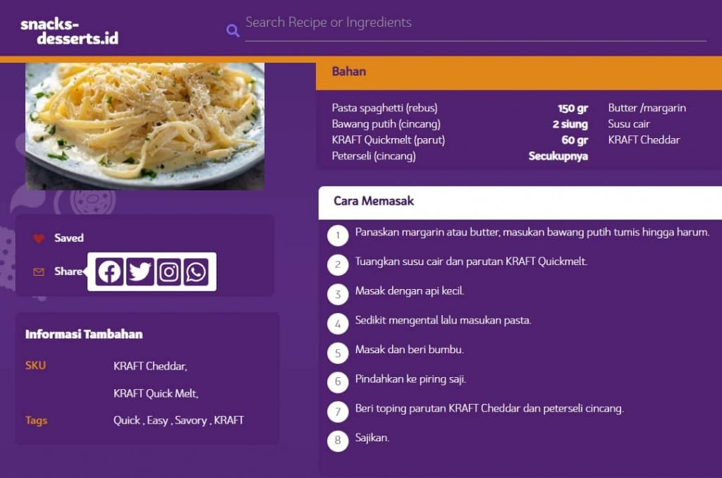 resep snacks desserts id
