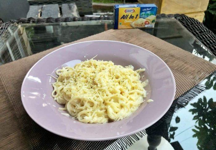 Resep Spaghetti Saus Keju ala Snacks-Desserts.id