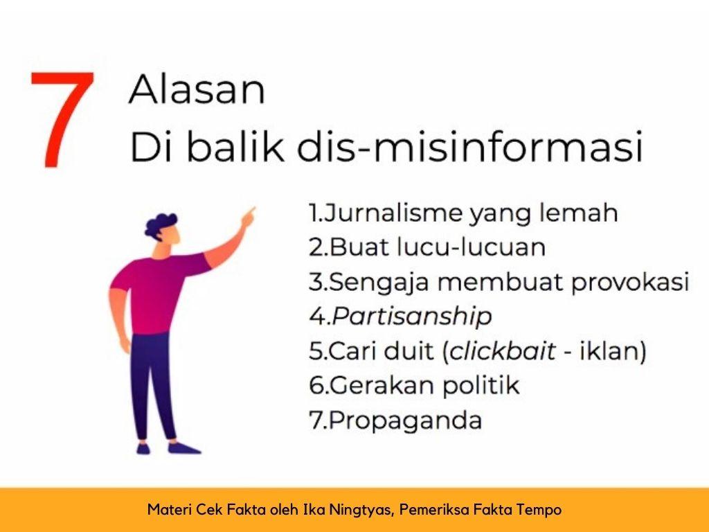 alasan disinformasi