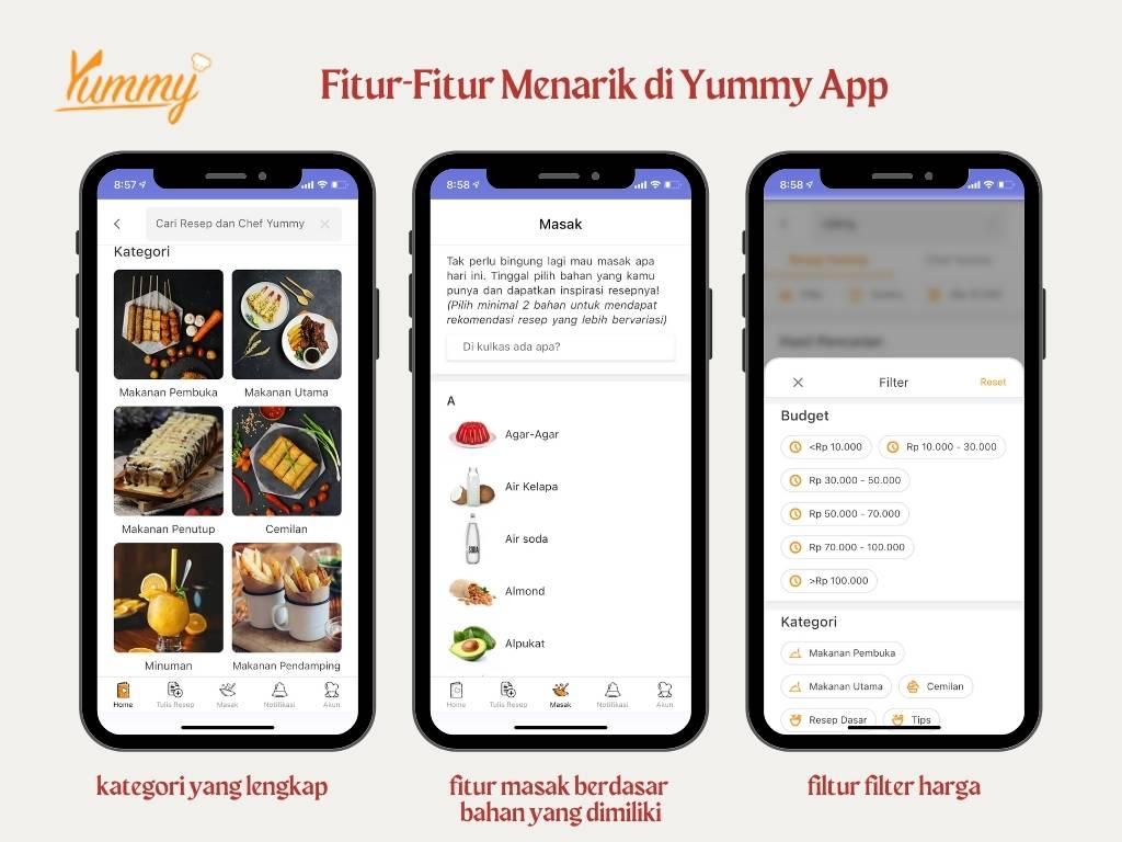 fitur-fitur yummy app